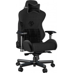 ANDA SEAT Gaming Chair T-PRO II Black FABRIC with Alcantara Strips