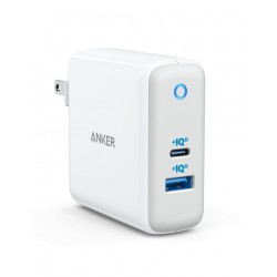 ANKER POWERPORT ATOM III. 60W USB-C. USB-A WHITE