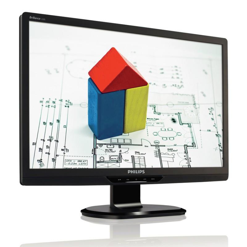 "PHILIPS used οθόνη 220S2SB LCD, 22"" 1680x1050, VGA/DVI-D, SQ"