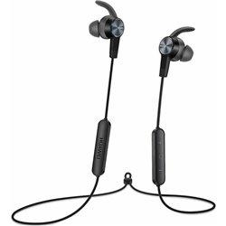 Bluetooth Hands Free Huawei AM61 Sport Lite Magnetic Μαύρο με Noise Cancellation Half-in-ear