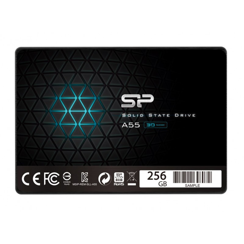 "SILICON POWER SSD A55 256GB, 2.5"", SATA III, 550-450MB/s 7mm, TLC"
