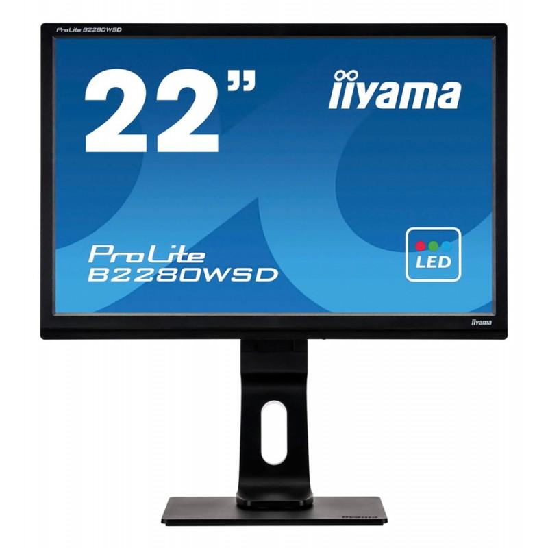 "IIYAMA used Οθόνη B2280WSD LED, 22"" 1680x1050px, VGA/DVI-D, FQ"