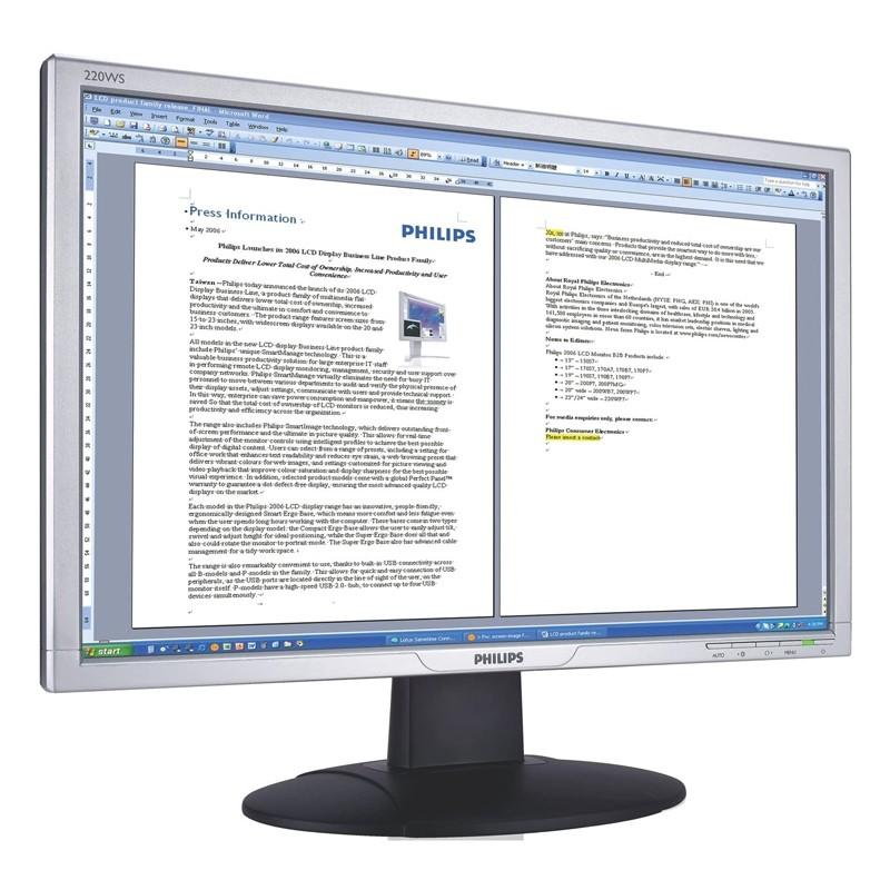 "PHILIPS used Οθόνη 220WS8 LCD, 22"" 1680x1050px, VGA/DVI-D, FQ"