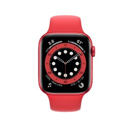Watch Apple Series 6 GPS 44mm Red Aluminum Case with Red Sport Band (M00M3NF/A)
