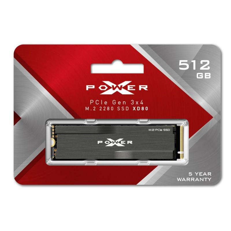 SILICON POWER SSD PCIe Gen3x4 M.2 2280 XD80, 512GB, 3.400-3.000MB/s