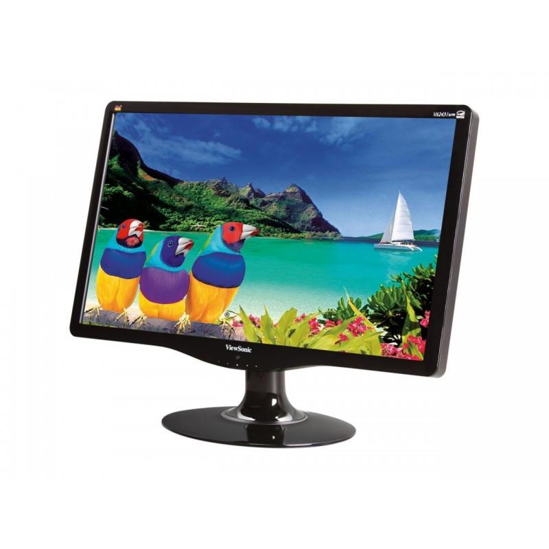 """VIEWSONIC used Οθόνη VA2431WM LCD, 23.6"""" Full HD, VGA/DVI-D, FQ"""