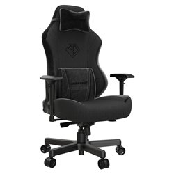 ANDA SEAT Gaming Chair AD18 T-PRO Black FABRIC with Alcantara Strips