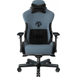 ANDA SEAT Gaming Chair T-PRO II Light Blue/ Black FABRIC with Alcantara Strips