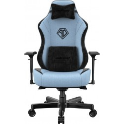 ANDA SEAT Gaming Chair AD18 T-PRO Light Blue/ Black FABRIC with Alcantara Strips